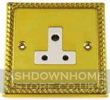Monarch Roped Polished Brass 2 & 5 Amp Plug Sockets